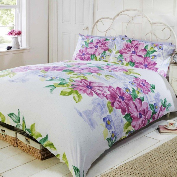 Botanical Garden Double Duvet Set - Pink