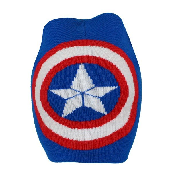 Captain America Crest Roll Down Hat - Junior