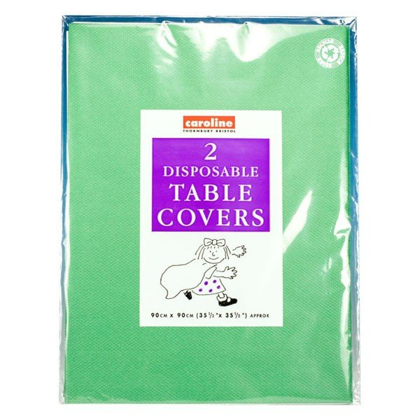 Caroline Square Paper Tablecovers - Dark Green