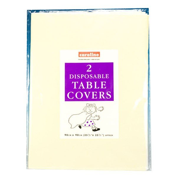 Caroline Square Paper Tablecovers - Ivory