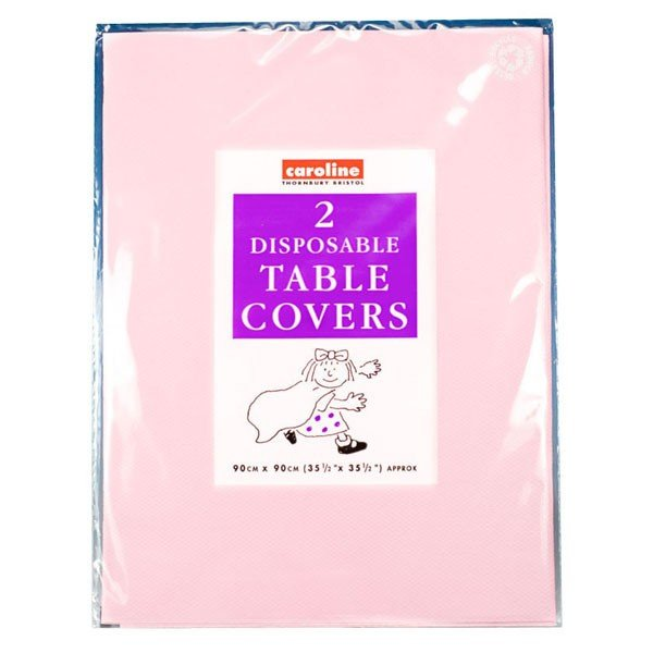 Caroline Square Paper Tablecovers - Pink