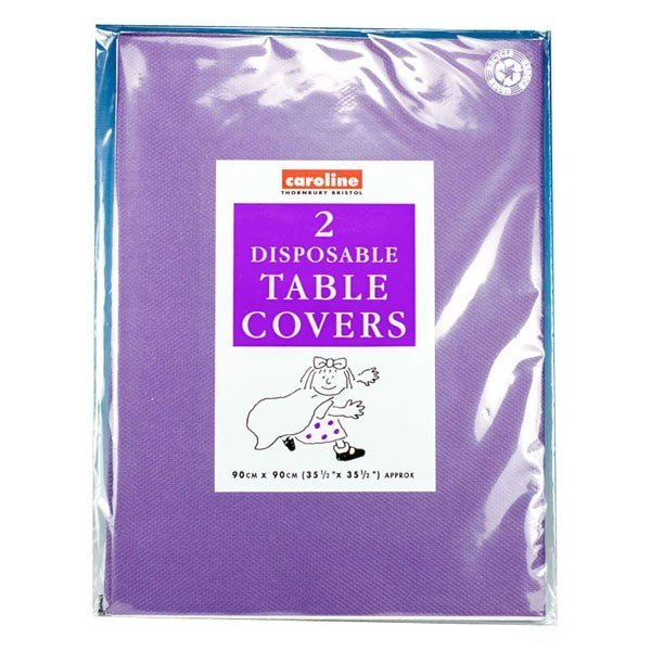 Caroline Square Paper Tablecovers - Purple