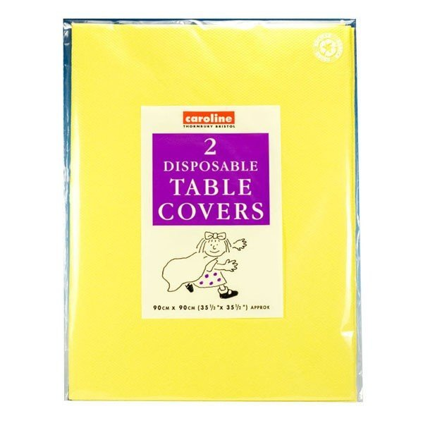 Caroline Square Paper Tablecovers - Yellow