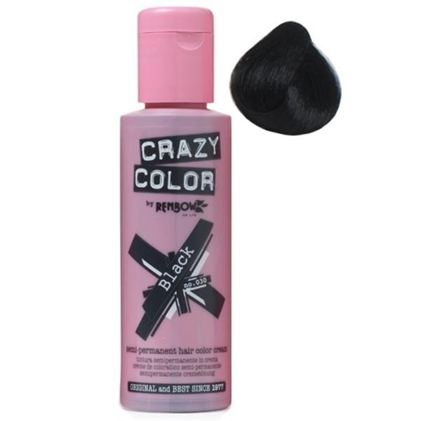 Crazy Colour Hair Dye Black