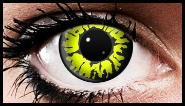 Yellow Wolf Crazy Coloured Contact Lenses (90 Day Lenses)