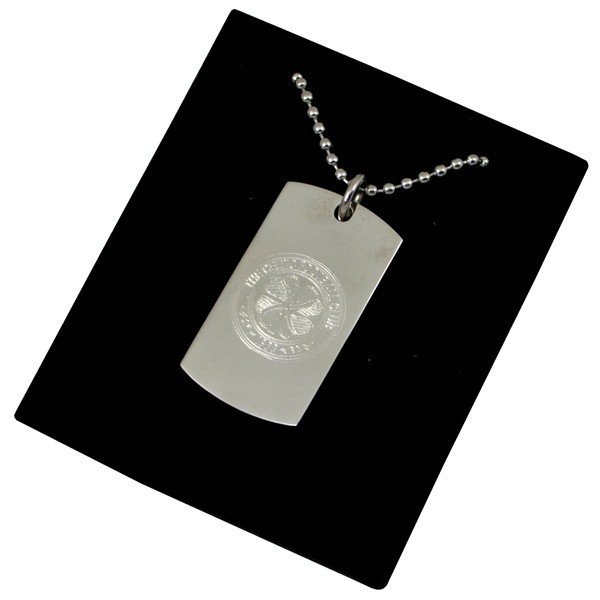 Celtic Crest Dog Tag & Chain