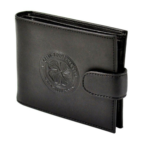 Celtic Crest Embossed Leather Wallet