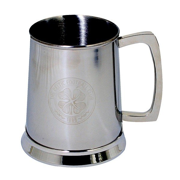 Celtic Crest Printed Chrome Tankard