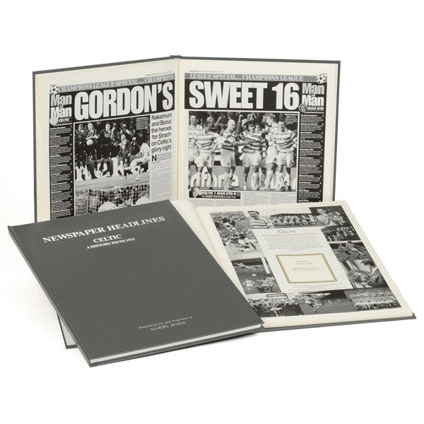 Celtic Grey Cover Football Book