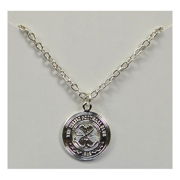 Celtic Silver Plated Crest Pendant/Chain