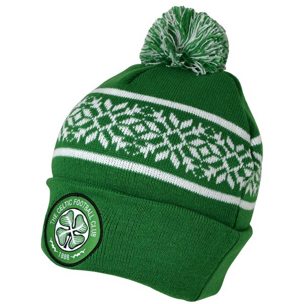 Celtic Snowflake Cuff Knitted Hat