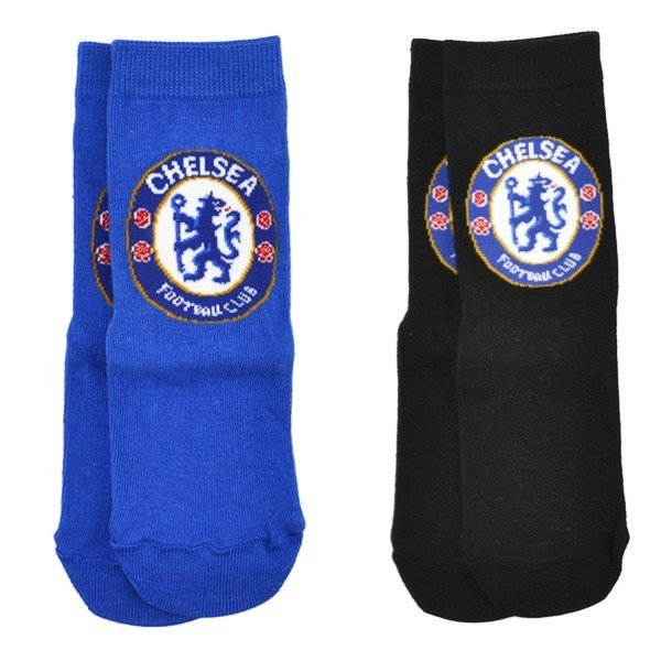 Chelsea 2PK Blue And Black Socks (9-12)