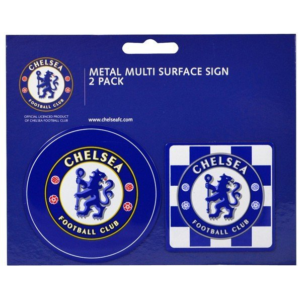 Chelsea 2PK Multi Surface Metal Sign