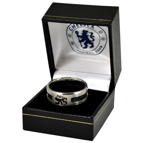 Chelsea Black Inlay Ring - Medium