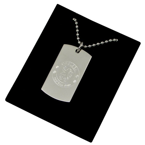 Chelsea Crest Dog Tag & Chain