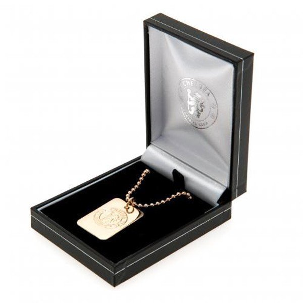 Chelsea Gold Plated Dog Tag and Chain