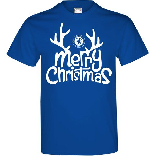 Chelsea Mens Merry Christmas T-Shirt - L