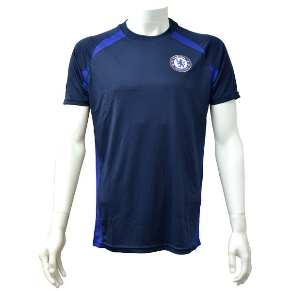 Chelsea Navy Panel Mens T-Shirt - L