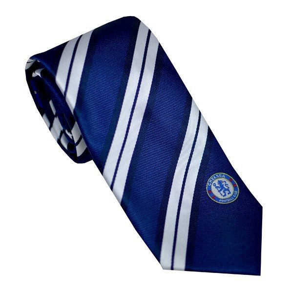 Chelsea Neck Tie Double White Stripe