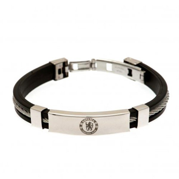 Chelsea Silver Inlay Silicone Bracelet