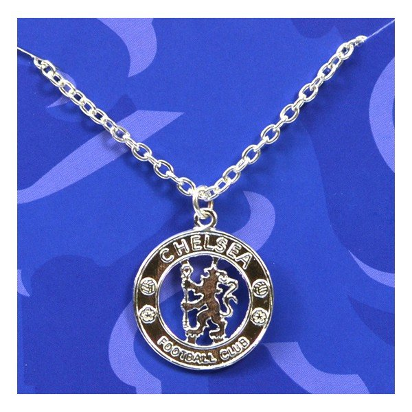 Chelsea Silver Plated Crest Pendant/Chain