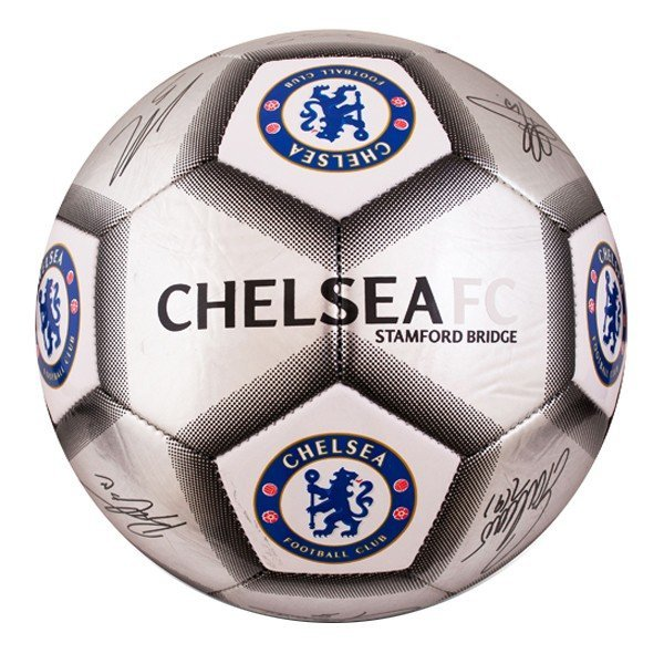 Chelsea Silver Signature Football - Size 5