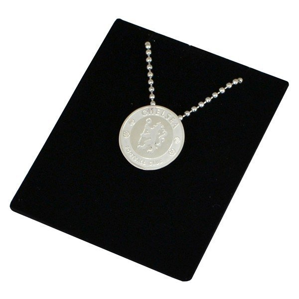 Chelsea Stainless Steel Crest Pendant/Chain