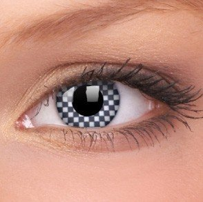 Chequered Crazy Colour Contact Lenses (1 Year Wear)