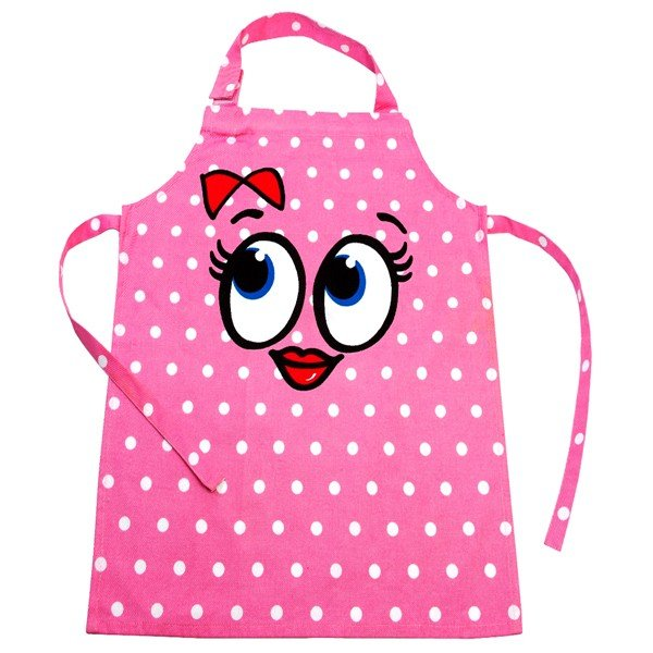 Childrens Chefs Apron - Pink Spot