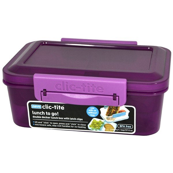 Clic-Tite1.1L Double Decker Sandwich Box - Berry