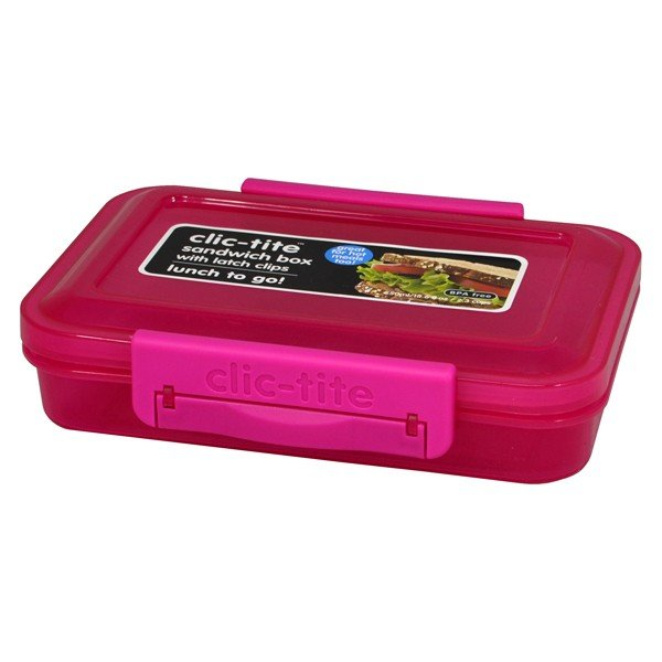 Clic-Tite 550 ML Sandwich Box - Pink