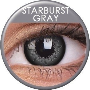 Starburst Grey Coloured Contact Lenses (90 Day)