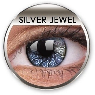 Stars & Jewels Silver Jewel Crazy Coloured Contact Lenses (90 Day)