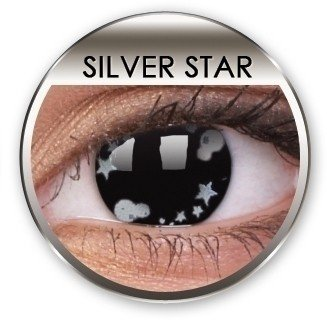 Stars & Jewels Silver Star Crazy Coloured Contact Lenses (90 Day)