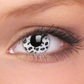 White Leopard Crazy Colour Contact Lenses (1 Year Wear)