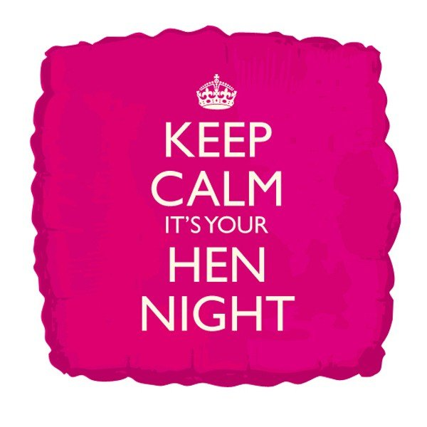 Creative Party 18 Inch Balloon - Keep Calm Its Your Hen Night