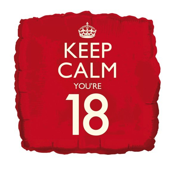 Creative Party 18 Inch Balloon - Keep Calm Youre 18