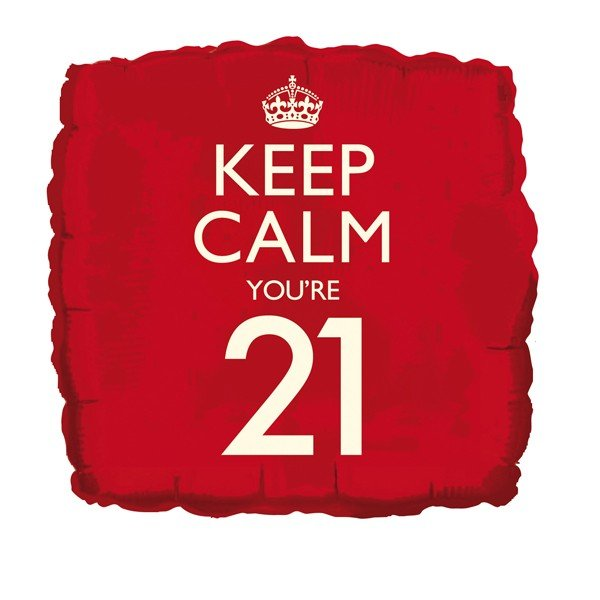 Creative Party 18 Inch Balloon - Keep Calm Youre 21
