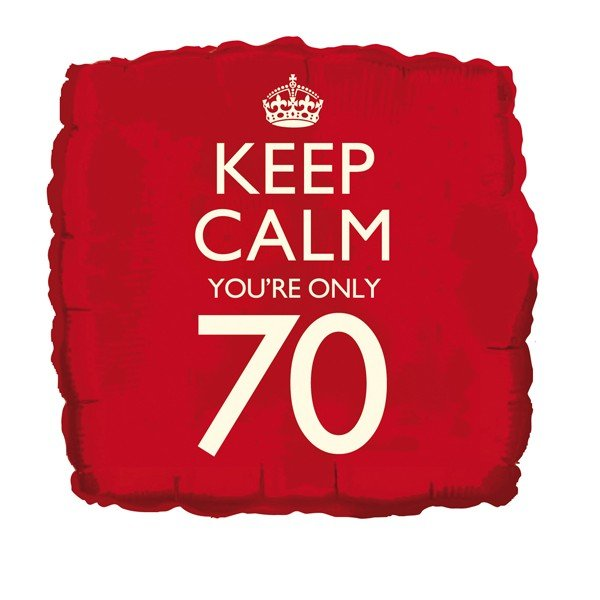 Creative Party 18 Inch Balloon - Keep Calm Youre 70