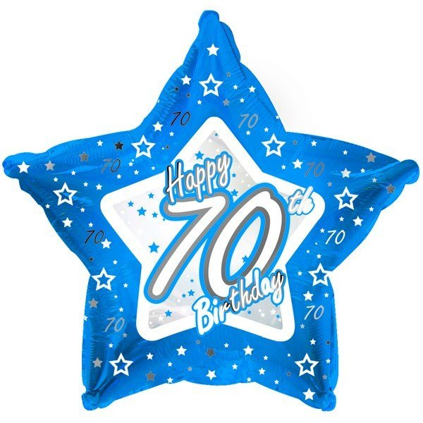 Creative Party 18 Inch Blue Star Balloon - Age 70