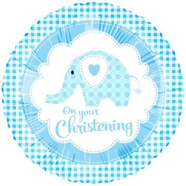 Creative Party 18 Inch Foil Balloon - Christening Blue