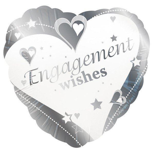 Creative Party 18 Inch Foil Balloon - Engagement Wishes