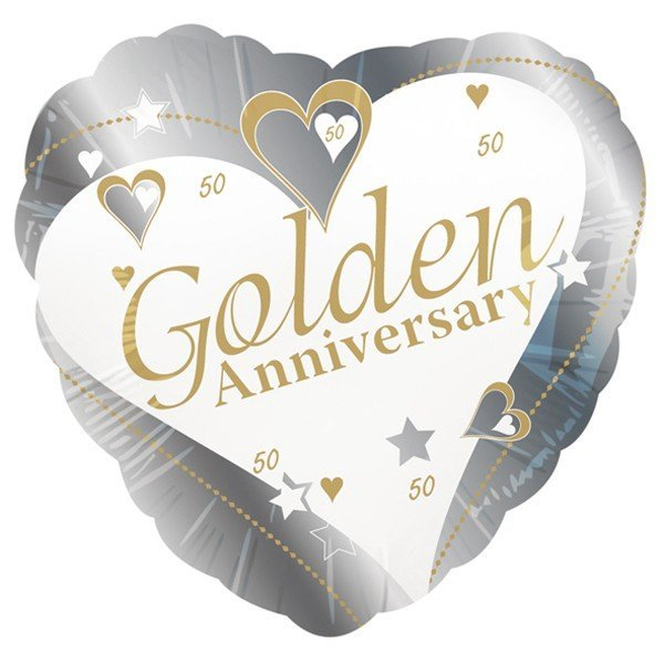 Creative Party 18 Inch Foil Balloon - Golden Anniversary