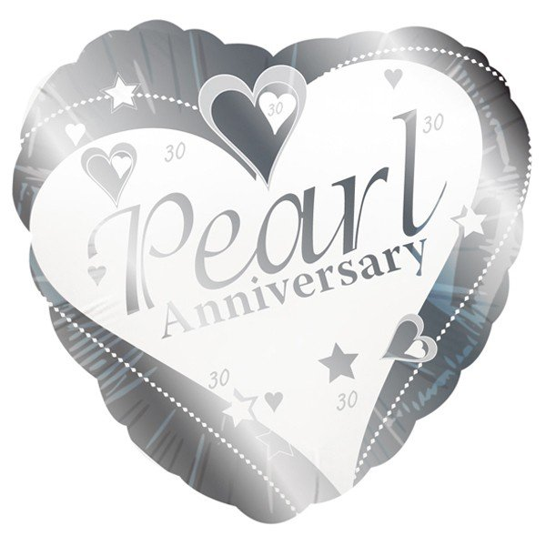 Creative Party 18 Inch Foil Balloon - Pearl Anniversary