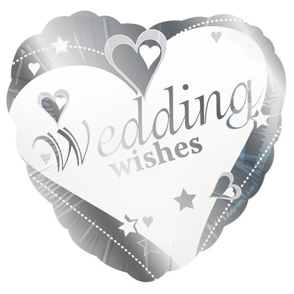 Creative Party 18 Inch Foil Balloon - Wedding Wishes