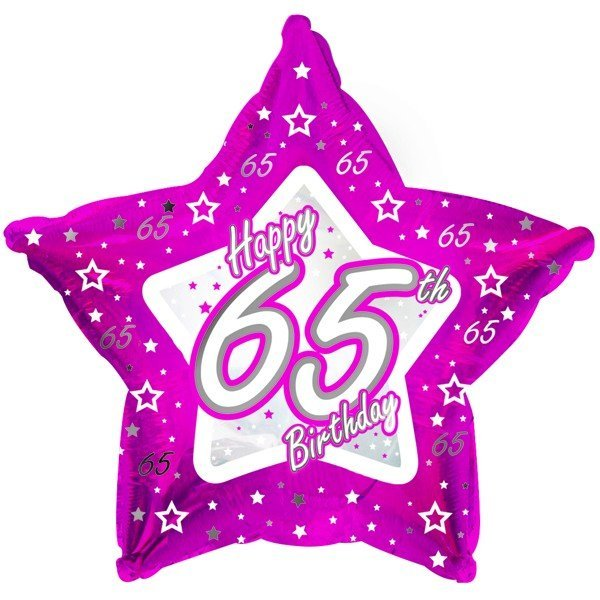 Creative Party 18 Inch Pink Star Balloon - Age 65