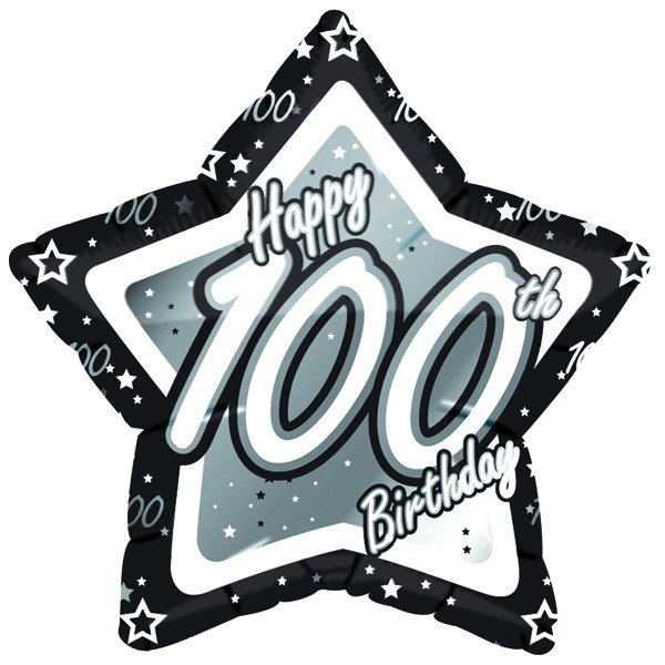 Creative Party 18 Inch Star Foil Balloon - 100th