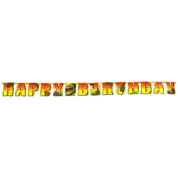 Creative Party 8 Foot Letter Banner - Dino Blast
