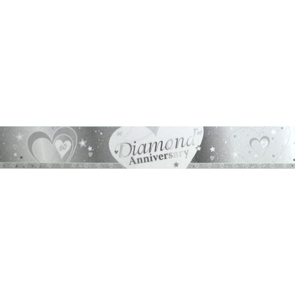Creative Party 9 Foot Anniversary Foil Banner - Diamond