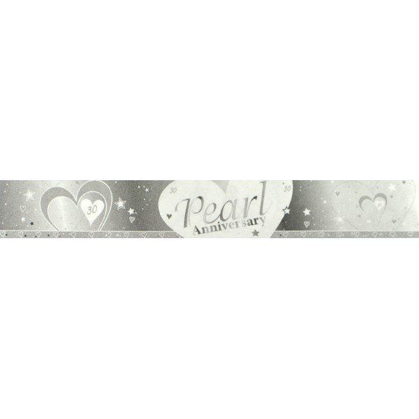 Creative Party 9 Foot Anniversary Foil Banner - Pearl